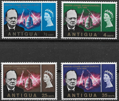 Antigua 1966 Winston Churchill Set