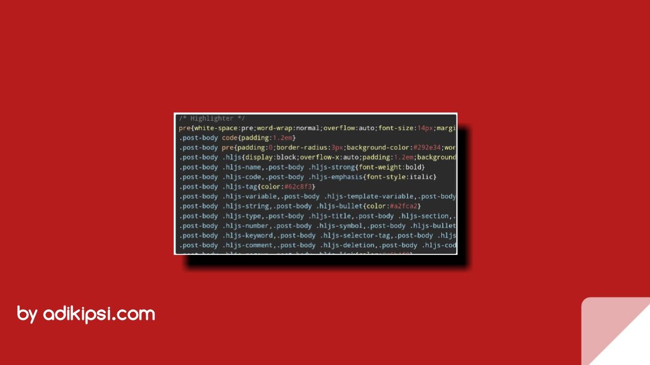 Cara Mudah Membuat Syntax Highlighter Berwarna Di Blogger