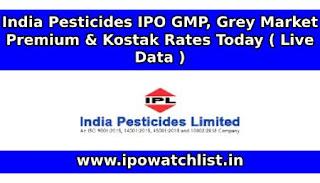 India Pesticides IPO GMP (Grey Market Premium)