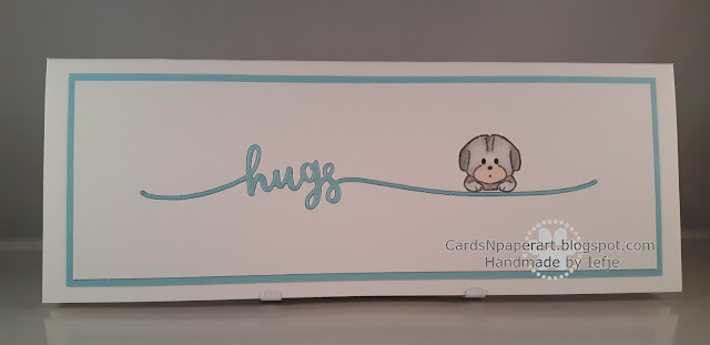 Avery Elle diecut hugs with Art Impressions dog stamp