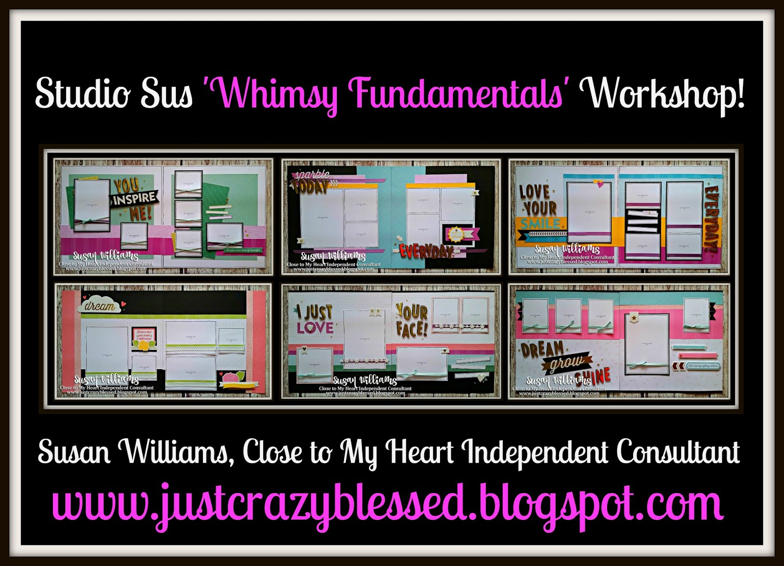 'Whimsy Fundamentals' Scrapbooking Workshop!