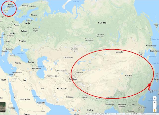 China Hong Kong United Kingdom Google Maps