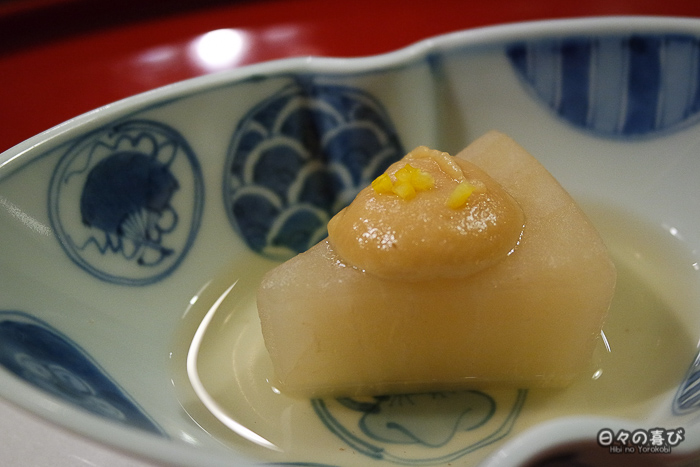 daikon mijoté, restaurant Ganko, Kyoto