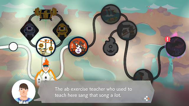 Ring Fit Adventure World 14 37 Abs Song Town Man exercise teacher
