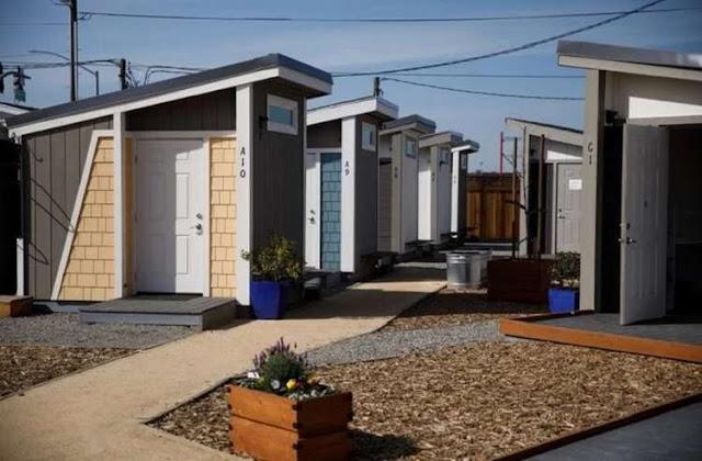 Для американских бездомных построили дома, но жить в них можно на определенных условиях