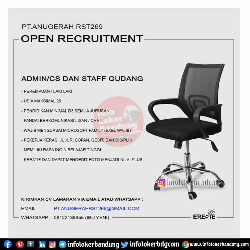Lowongan Kerja PT. Anugerah RST 269 Bandung Mei 2021