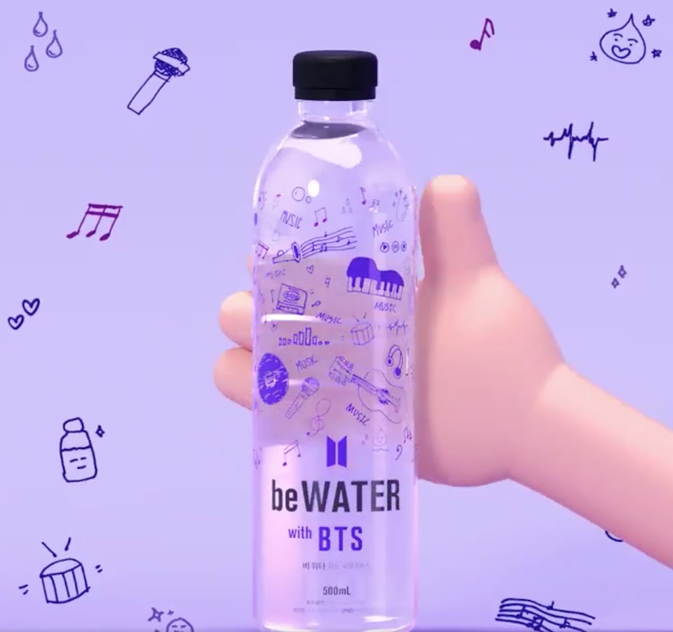 Big Hit Selling Premium Bottled Mineral Water, 'be WATER with BTS'
