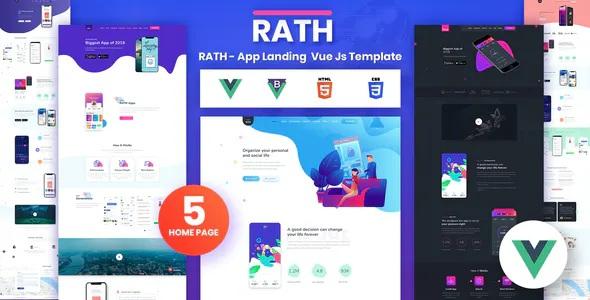 App Landing Onepage Vue Js Template