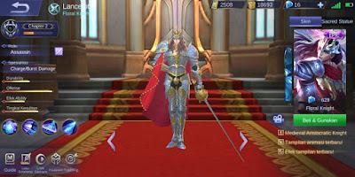 Script Skin Epic Lancelot Floral Knight MLBB