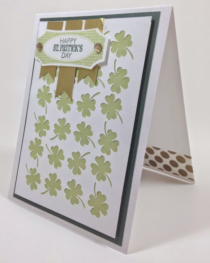 Cricut Artfully Sent Four-leaf clover card sideview