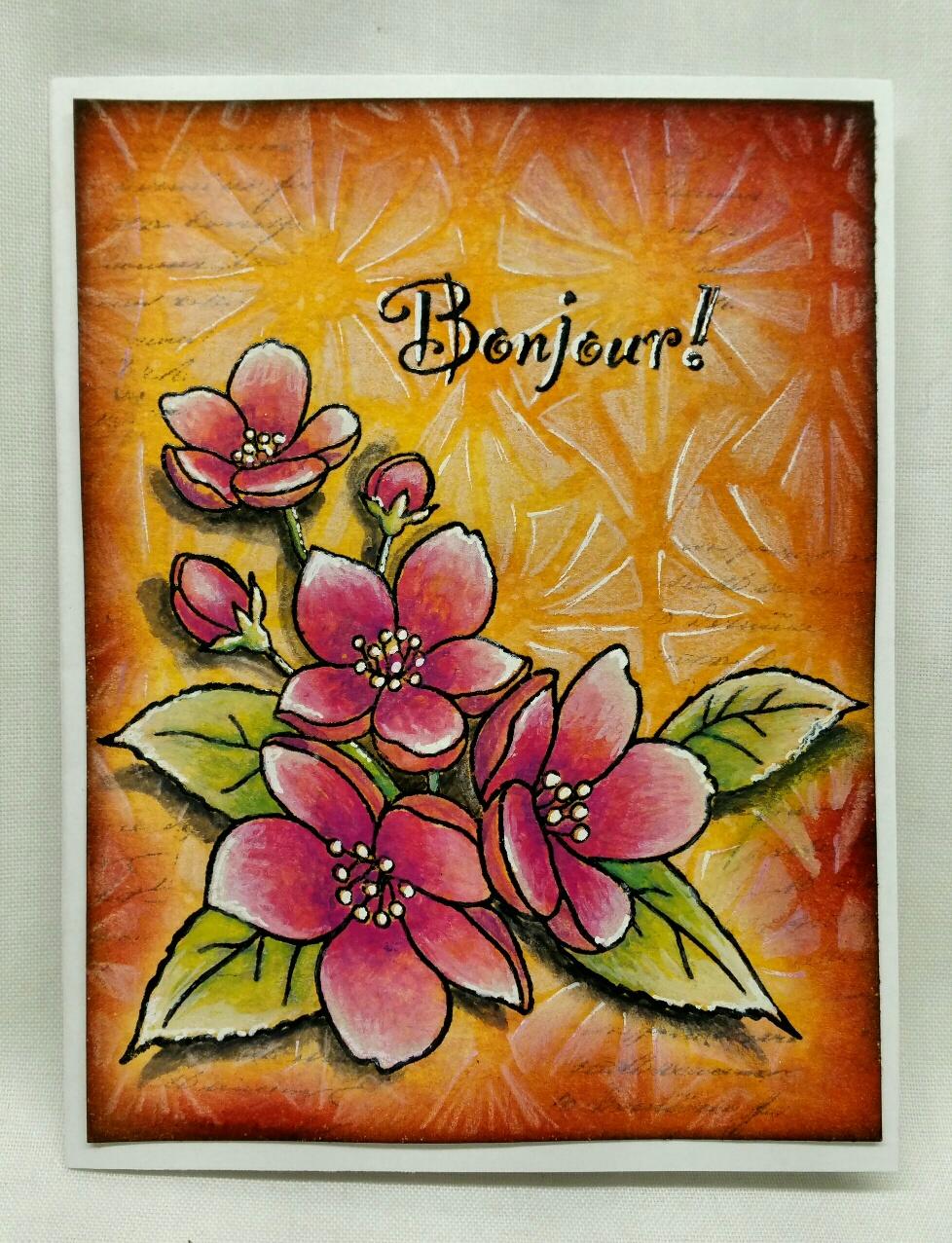 Cr ations a les tr sors bonjour avec un bouquet fleuri for Bouquet fleuri