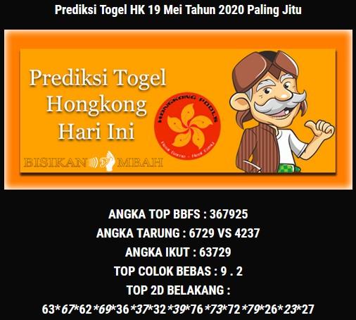Prediksi Togel Hongkong Selasa 19 Mei 2020 - Bisikan Mbah