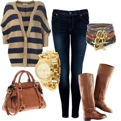 Conjuntos de moda para invierno outfits para oto o invierno mujer tendencias - Ropa interior combinaciones ...