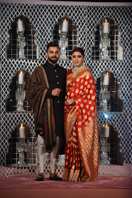 Virat Kohli and Anushka Sharma Wedding Reception Photos