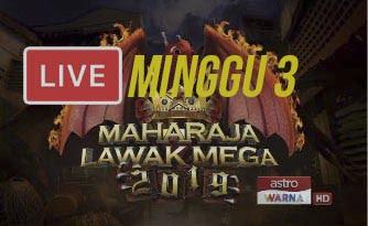 Live Streaming Maharaja Lawak Mega 15.11.2019.