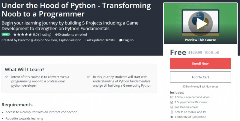 100 Off Under The Hood Of Python Transforming Noob To A Programmer