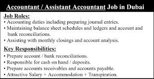 Accountant cum Administrator Jobs Recruitment in Trade Centre 1, Dubai