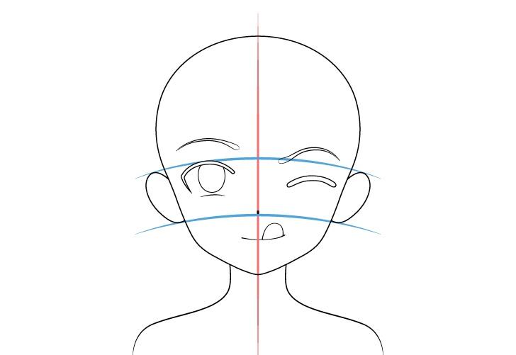 Gadis anime lidah keluar penempatan telinga