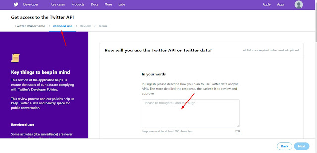 cara daftar api twitter dan mendapatkan API Key Twitter