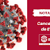 #NotaOficial: Prefeitura cancela eventos por conta do Coronavírus
