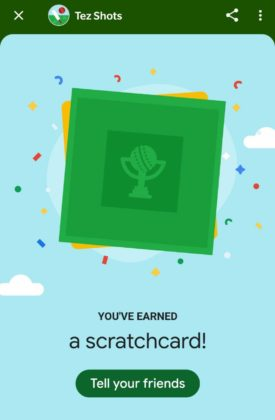 Free Scratch Cards >> Dhamaka Google Tez Shot Game Win Free Scratch Cards
