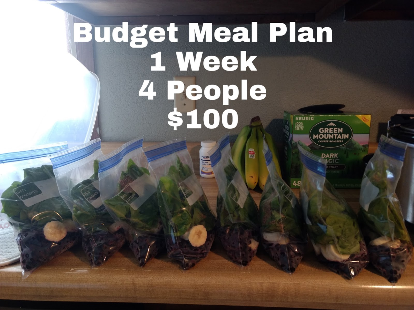 $100 Grocery Budget, One Week and Four People