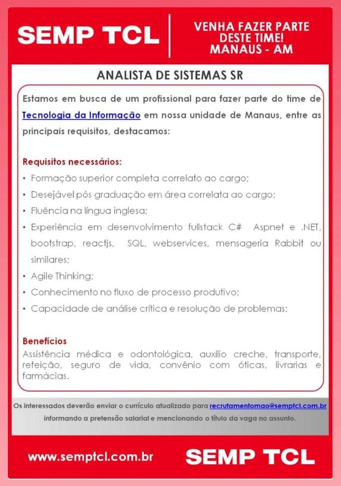 SEMP TCL (semp toshiba) - Trabalhe conosco