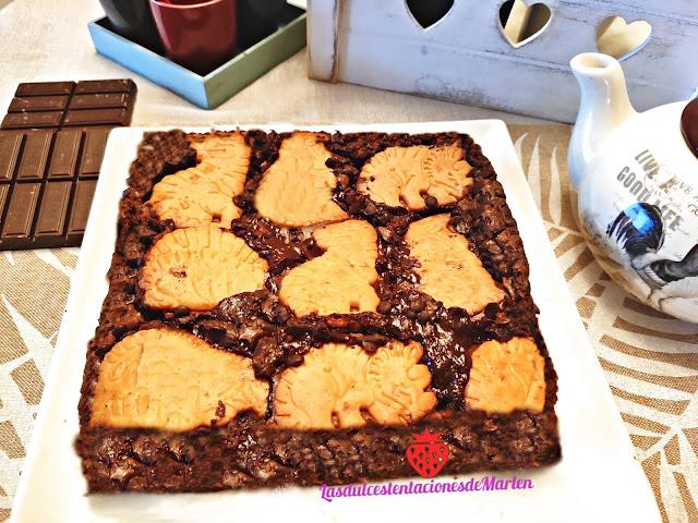 Brownie Con Galletas Dinosaurus