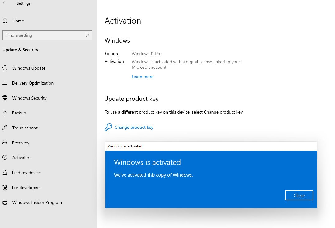 Product Key Windows 7, 8 (8.1) e 10 validi per Windows 11