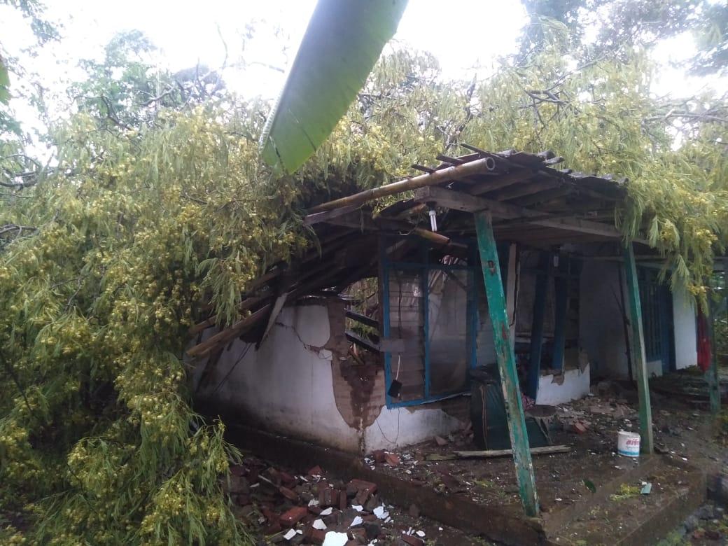 Puting Beliung Terjang Desa Kalipenggung, 6 Rumah Rusak