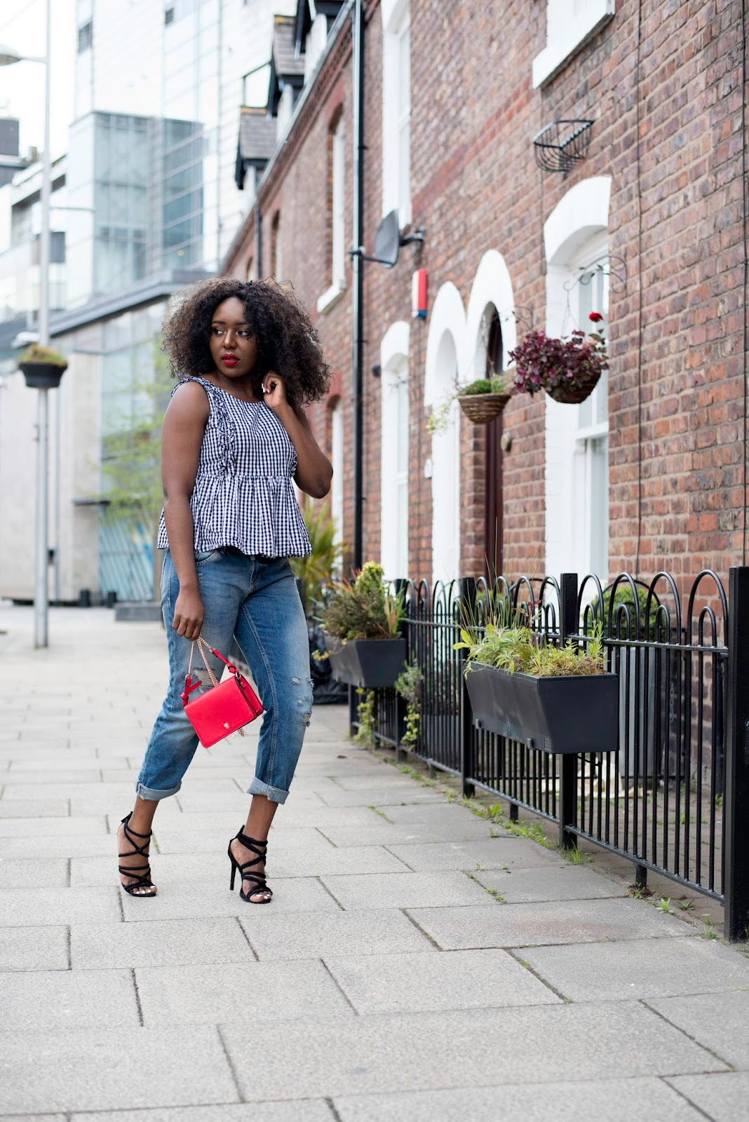 Stephylately is styling gingham for spring