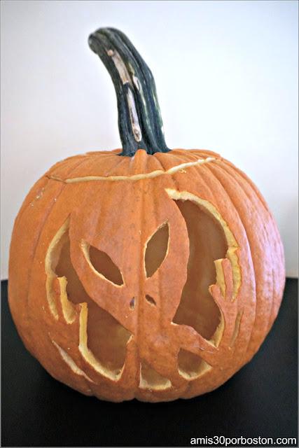 Mi Calabaza de Wilson Farm Decorada para Halloween
