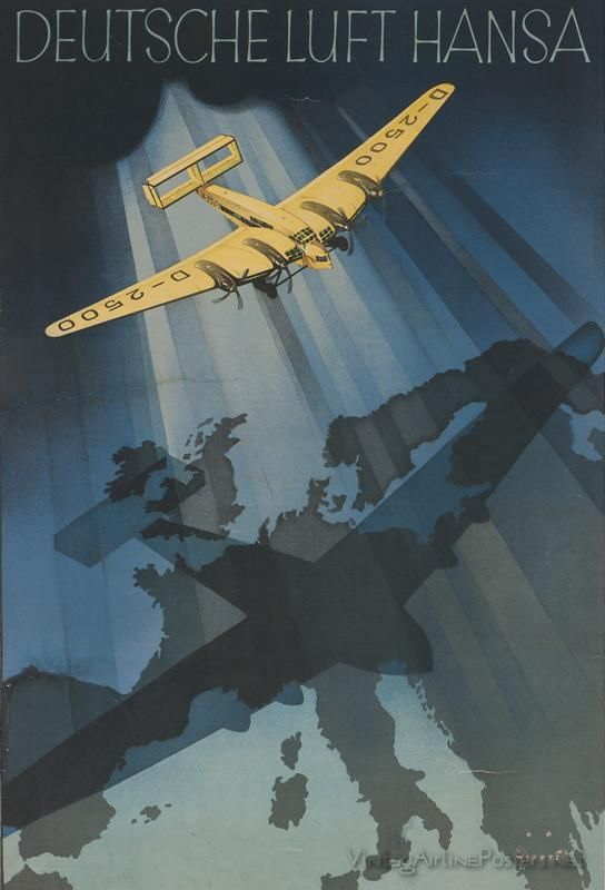 Luft Hansa Fascist airplane ads worldwartwo.filminspector.com