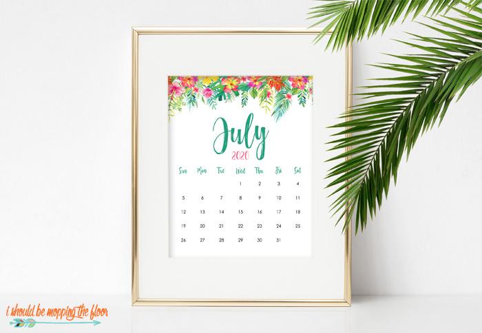 July Calendar to Print