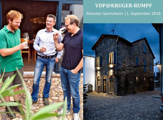 Weinpräsentatin des VDP im Weingut Kruger-Rumpf