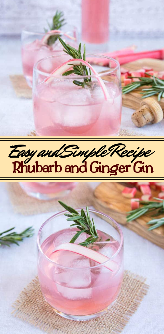 Rhubarb and Ginger Gin  #healthydrink #easyrecipe #cocktail #smoothie