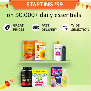 Starting Rs.99 on 30,000+ daily essentials