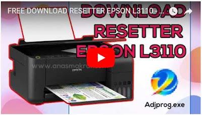 video cara reset printer epson l3110 gratis