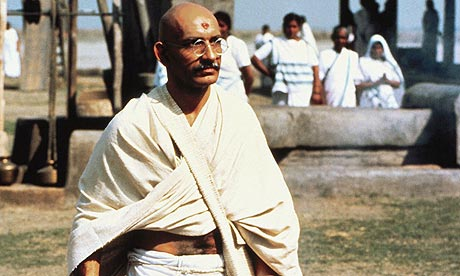 movie image of Ben Kingsley as Ghandi