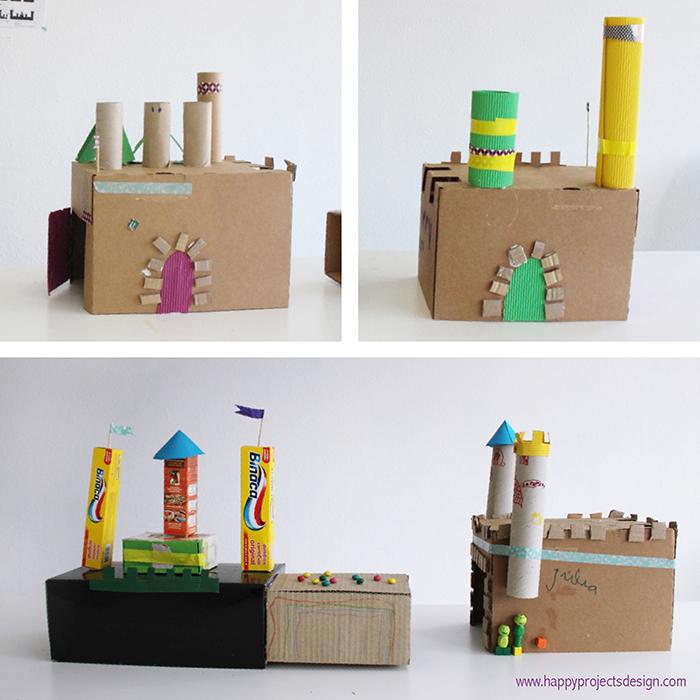DIY castillos de cartón