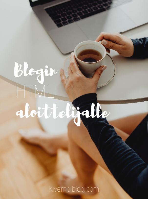 Blogin HTML aloittelijalle - Intro