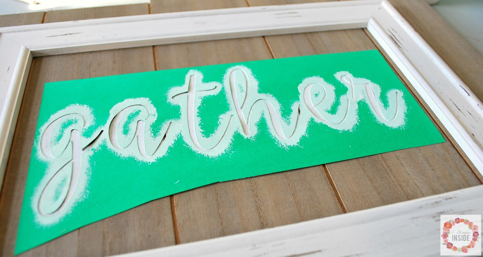 Easy Quot Gather Quot Sign A Glimpse Inside