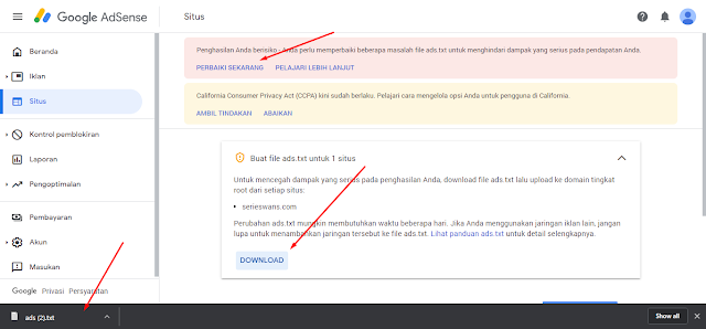 Cara Mengatasi Masalah Ads.txt Google Adsense di Blog
