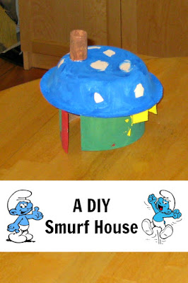 Easy DIY Smurf House