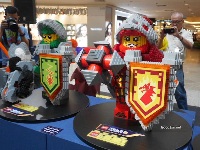 Huge sized NEXO Knights on display at the event space