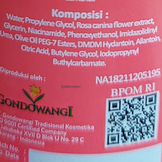 ingredient Azalea Deep Hydration Rose Water