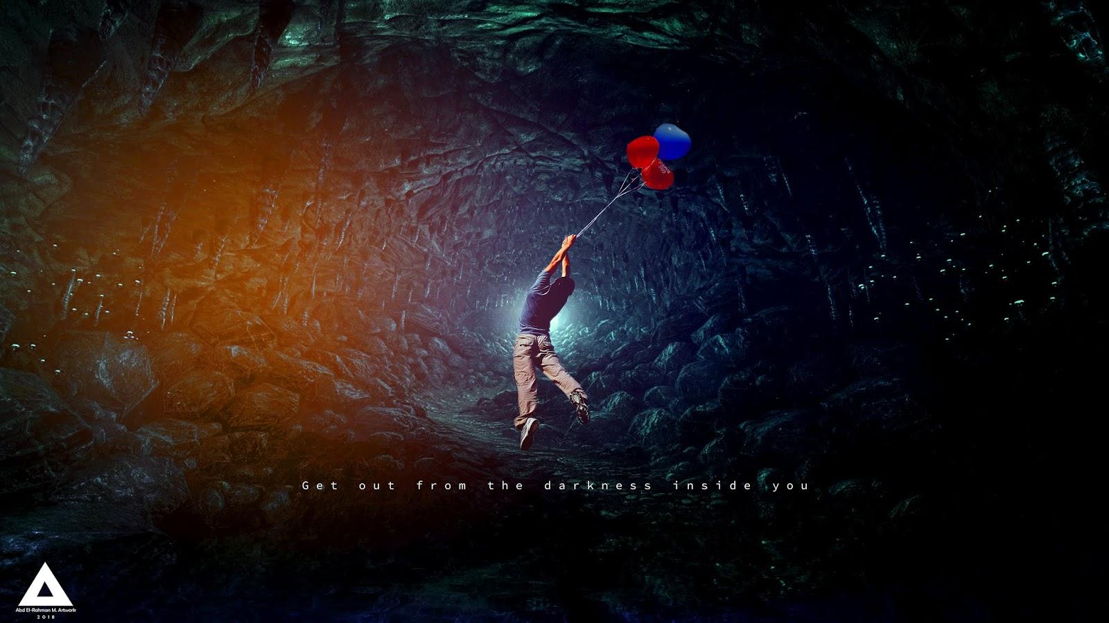 Darkness, Inspirational, Motivation, 4K, Creative Graphics