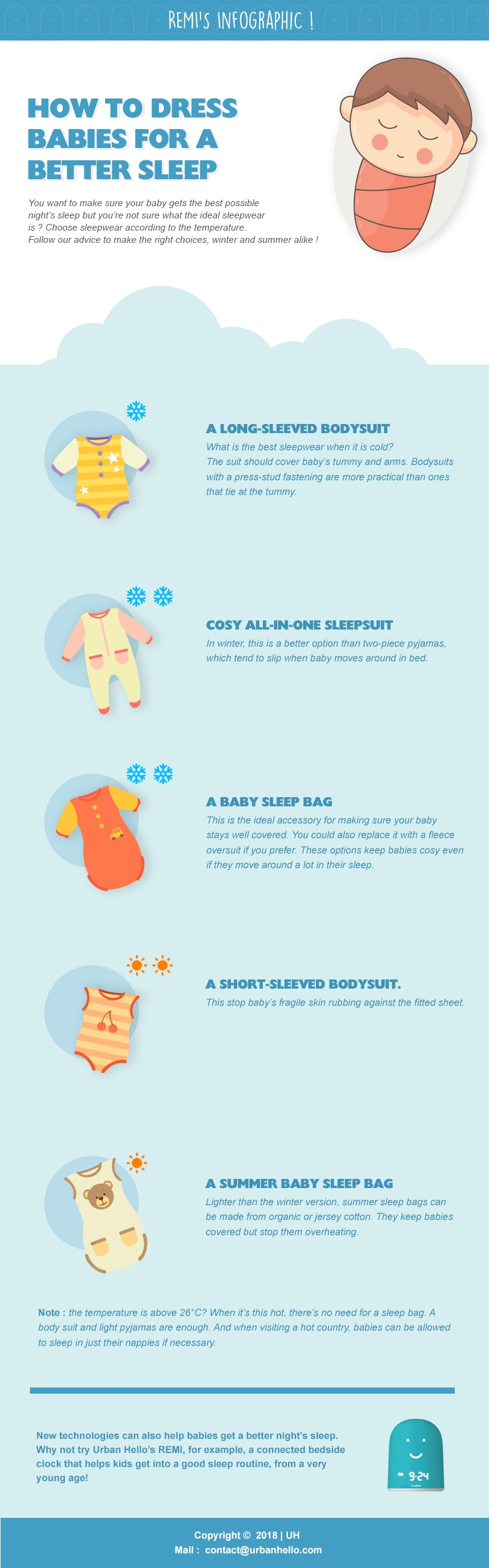 How To Dress Babies For A Better Sleep ? #infographic