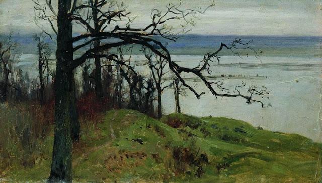 Исаак Ильич Левитан - Волга с высокого берега. 1887