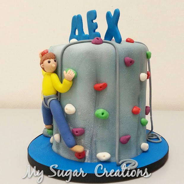Sugar Creations 001943746- Rock Climbing Cake